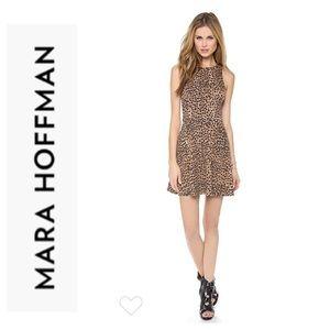 Mara Hoffman Jacquard Ponte Leopard Circle dress